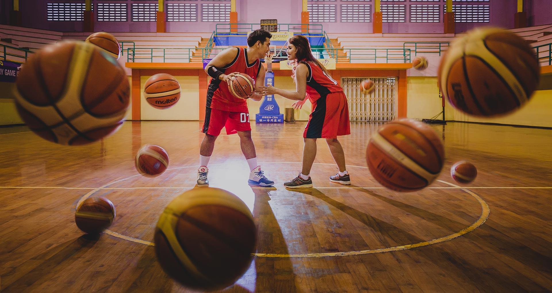 Bali Pre Wedding photographer Basket ball